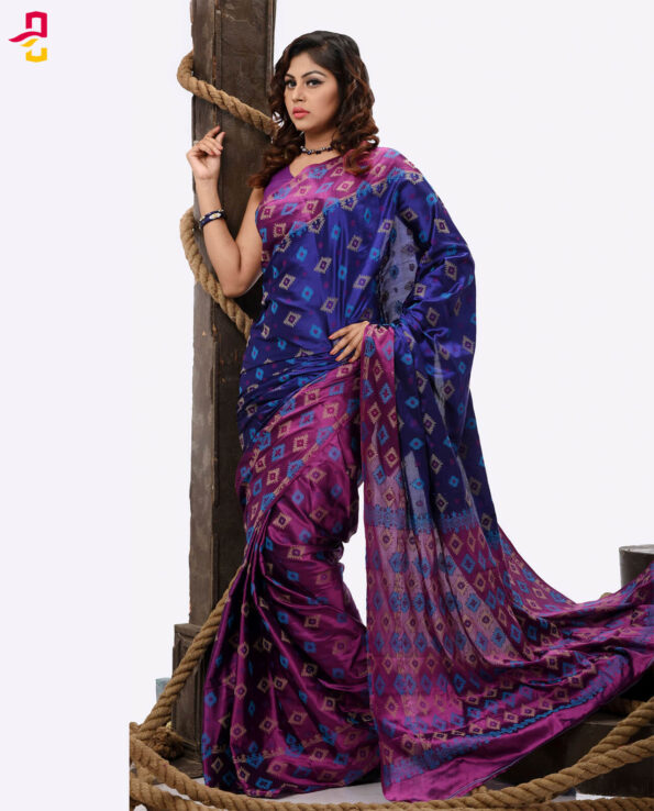 Pure Soft Silk Jamdani Tangail Saree HHS-467