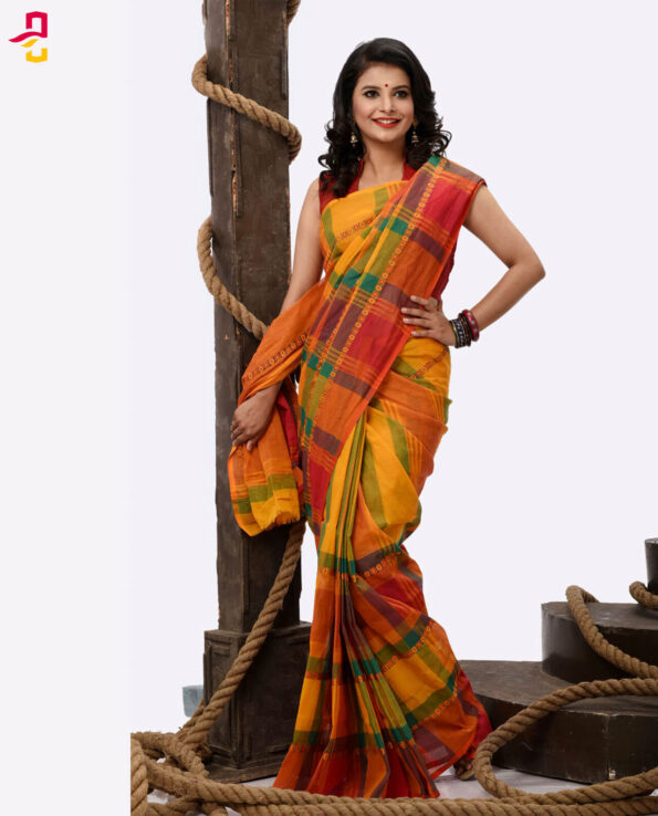 Pure Soft Cotton Tangail Sari (সুতি শাড়ি) HHS-471