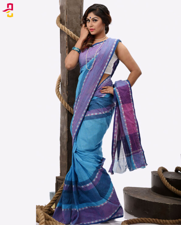 Pure Soft Cotton Tangail Sari (সুতি শাড়ি) HHS-476