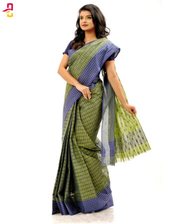 Pure Cotton Check Tangail Sari (সুতি শাড়ি) HHS-503