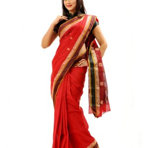 Pure Cotton Tangail Sari (সুতি শাড়ি) HHS-508