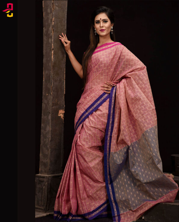 Pure Soft Cotton Tangail Sari (সুতি শাড়ি) HHS-528