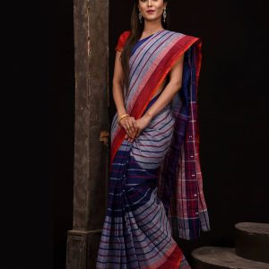 Pure Soft Cotton Tangail Sari (সুতি শাড়ি) HHS-530