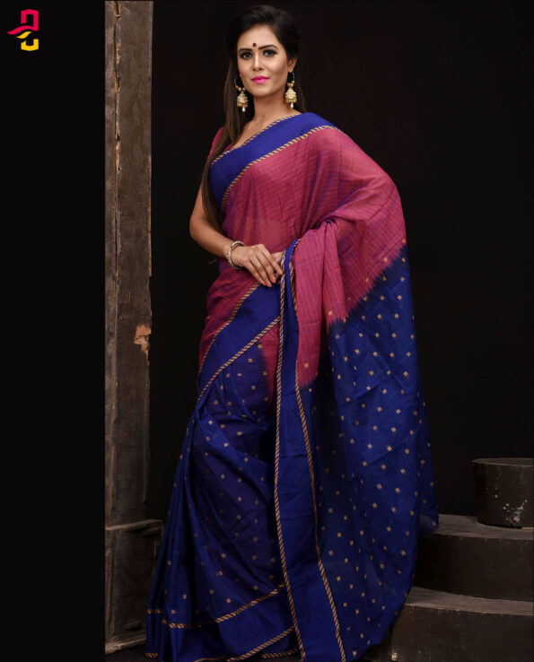 Mercerized Cotton Tangail Saree (সুতি শাড়ি) HHS-536