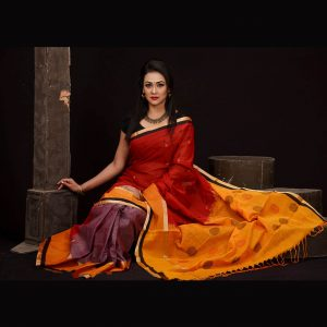 Mercerized Cotton Tangail Saree (সুতি শাড়ি) HHS-541