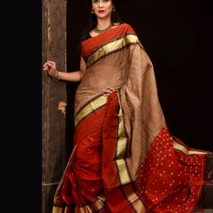 Mercerized Cotton Tangail Saree (সুতি শাড়ি) HHS-543