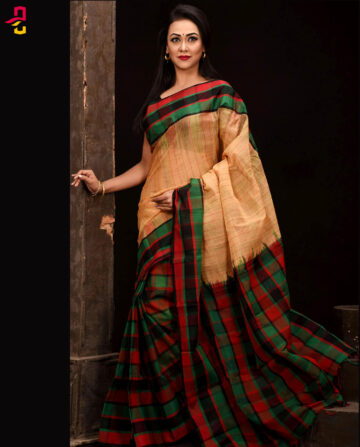 Mercerized Cotton Tangail Saree (সুতি শাড়ি) HHS-545