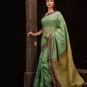 Pure Soft Cotton Tangail Sari (সুতি শাড়ি) HHS-546