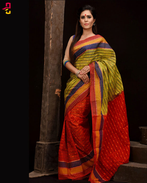 Mercerized Cotton Tangail Saree (সুতি শাড়ি) HHS-552