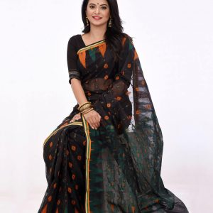 Baluchari Allover Handwork Cotton Tangail Saree (বালুচরি সুতি শাড়ি) HHS-563