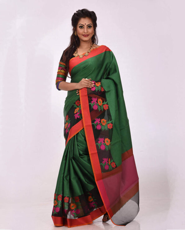 Soft Half Silk Tangail Saree HJ-2237