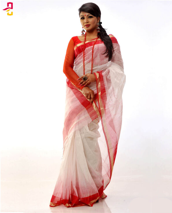 Pure Cotton Tangail Saree HJS-142