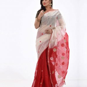 Pure Soft Cotton Saree HJS-156