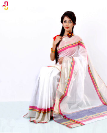 Gas Cotton Saree HJS-190