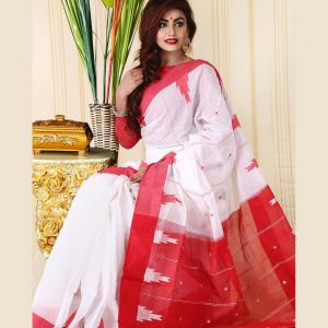 Pure Soft Cotton Saree HJS-257