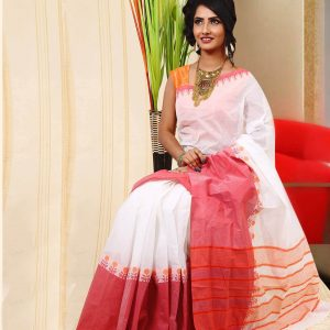 Pure Baluchuri Cotton Saree HJS-291