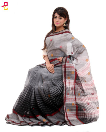 Soft Cotton Tangail Sari (সুতি শাড়ি) HMC-57