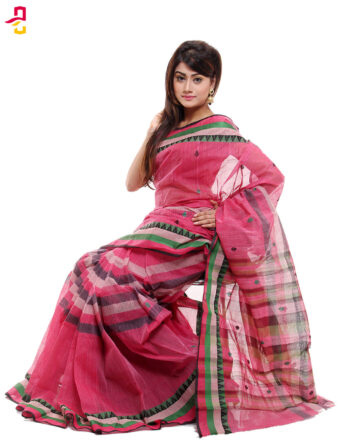 Pure Soft Cotton Tangail Sari (সুতি শাড়ি) HMC-60