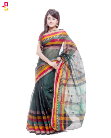 Soft Mercerized Cotton Tangail Sari (সুতি শাড়ি) HMC-61