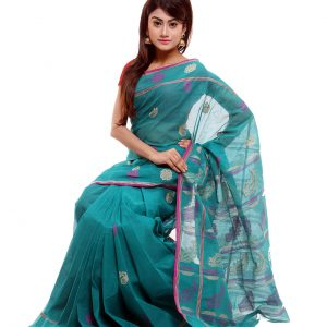 Soft Mercerized Cotton Tangail Sari (সুতি শাড়ি) HMC-62