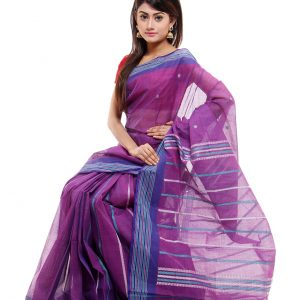 Muslin Soft Mercerized Cotton Tangail Sari (সুতি শাড়ি) HMC-63