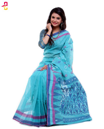 Soft Mercerized Cotton Handwork Tangail Sari (সুতি শাড়ি) HMC-64