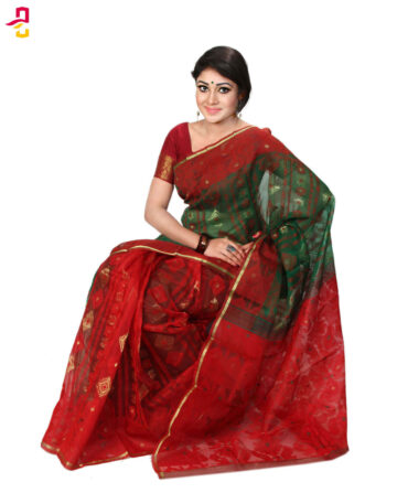 Two Yarn Silk Jamdani Tangail Sari (জামদানি শাড়ি) HMS-137