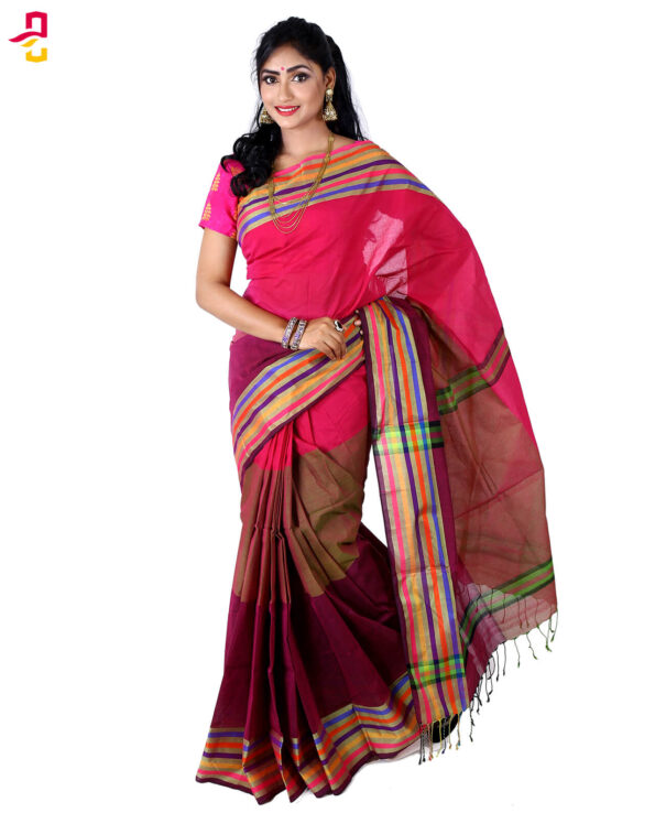 Pure Cotton Tangail Sari (সুতি শাড়ি) HMT-264
