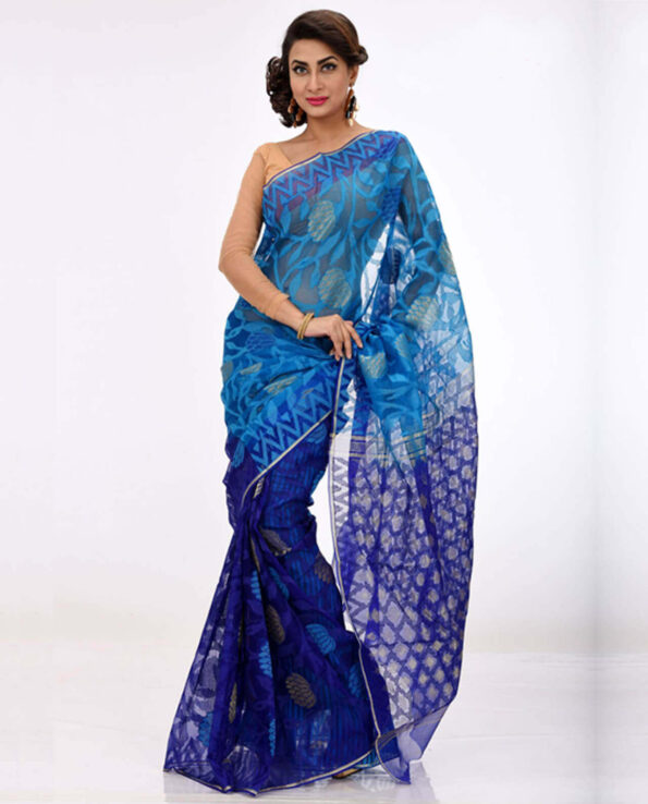 Silk Jamdani Saree HN-196