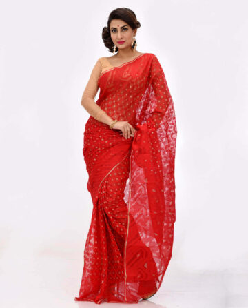 Silk Jamdani Saree HN-198