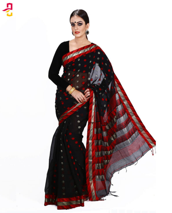 Mercerized Muslin Silk Tangail Saree HRB-160