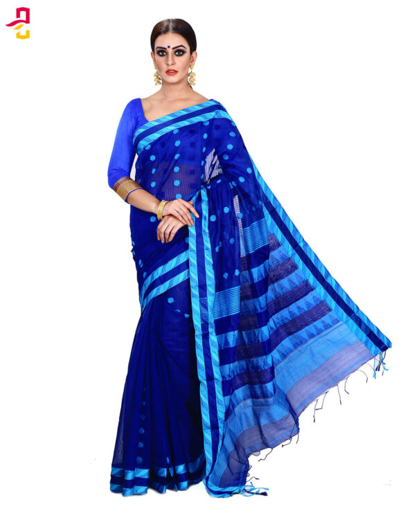 Mercerized Muslin Silk Tangail Saree HRB-161