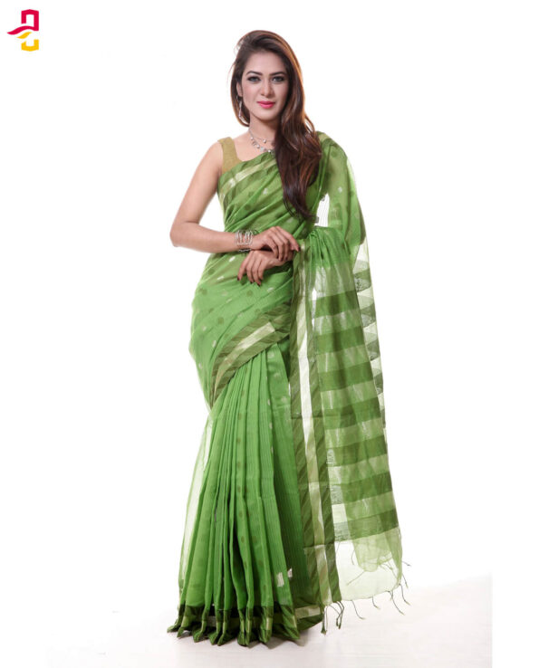Mercerized Muslin Silk Tangail Saree HRB-162